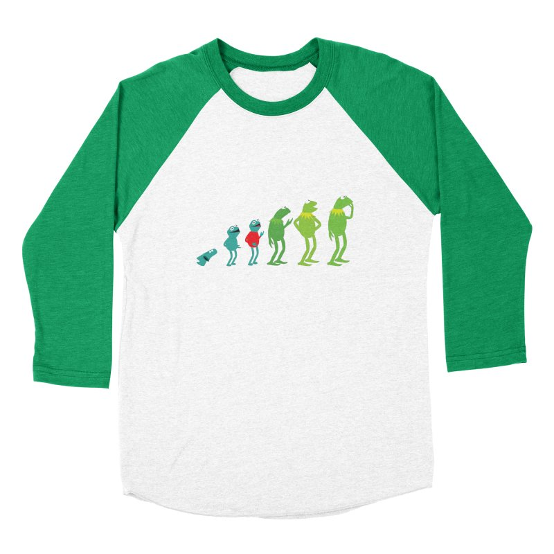 Evolution of Kermit Men's Baseball Triblend T-Shirt by kirbymack's Artist Shop