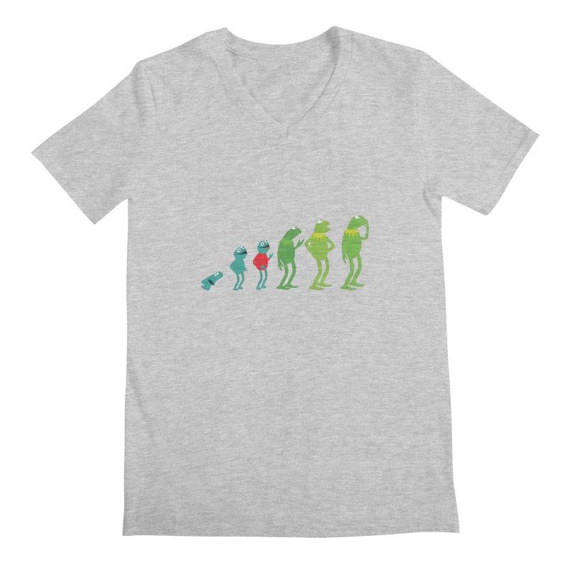 Evolution of Kermit Men's V-Neck by kirbymack's Artist Shop
