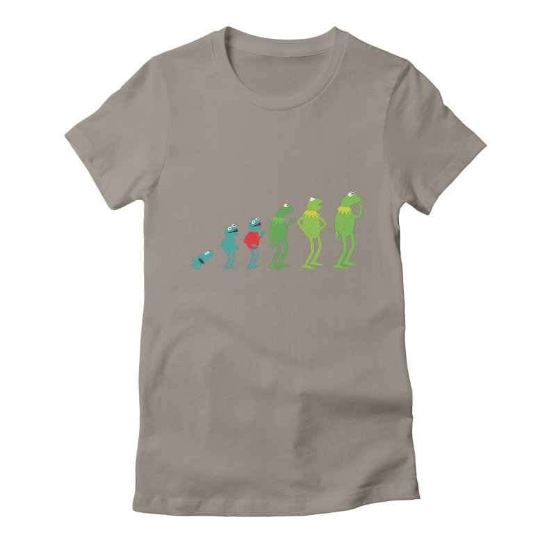 Evolution of Kermit Women's Fitted T-Shirt by kirbymack's Artist Shop