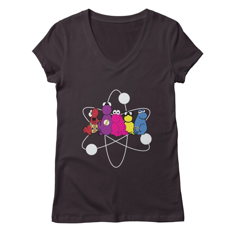 The Big Bang Theory - Nerds! Women's V-Neck by kirbymack's Artist Shop