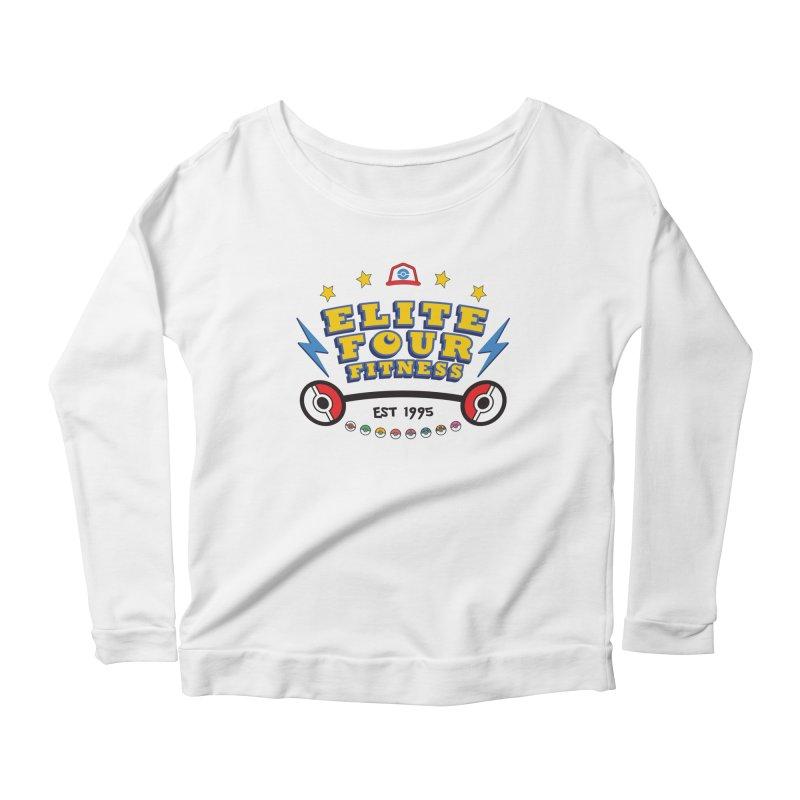 Elite Four Fitness - A Poke Gym Women's Scoop Neck Longsleeve T-Shirt by kirbymack's Artist Shop