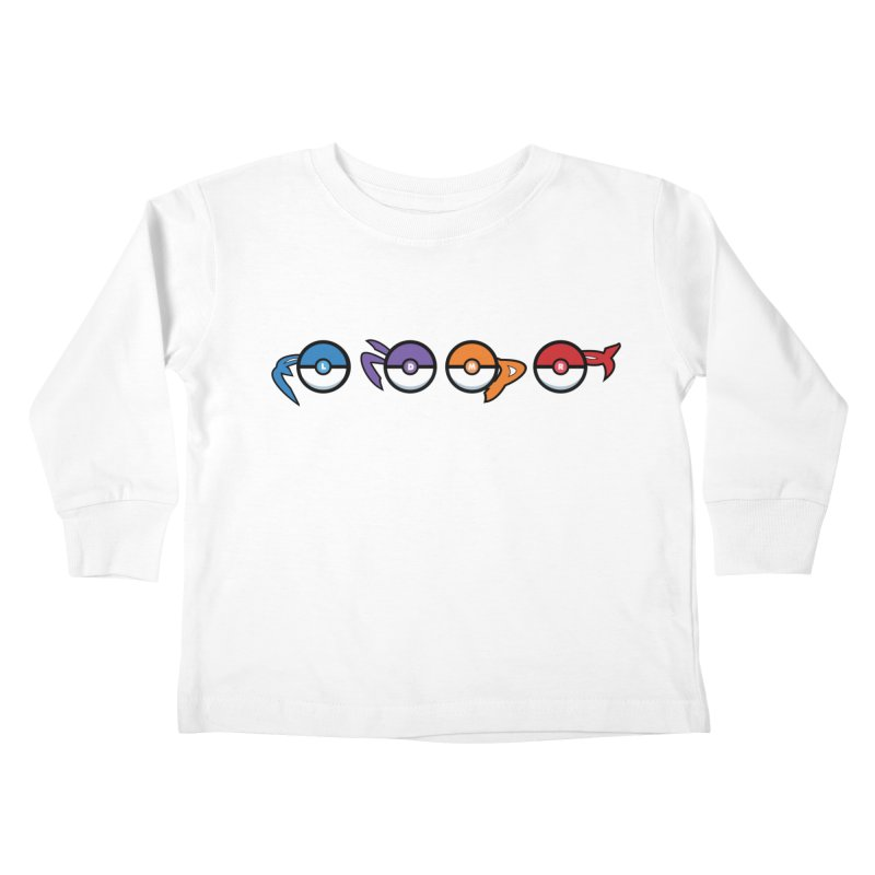 Catch 'Em All Dude! Kids Toddler Longsleeve T-Shirt by kirbymack's Artist Shop