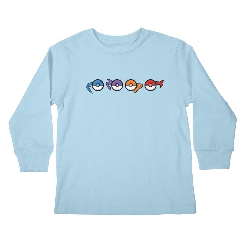 Catch 'Em All Dude! Kids Longsleeve T-Shirt by kirbymack's Artist Shop