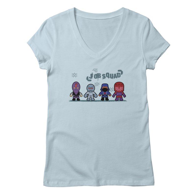 Job Squad Women's V-Neck by kirbymack's Artist Shop