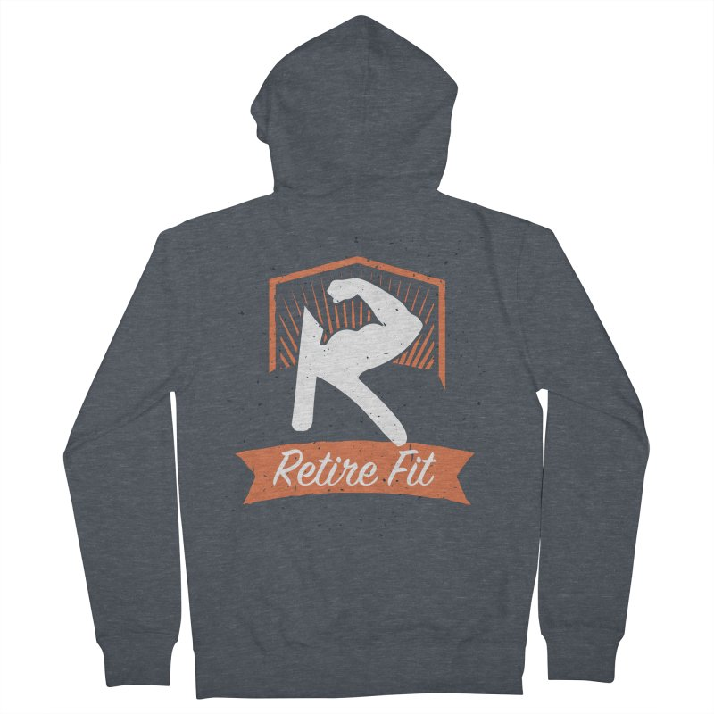 Retire Fit Men's French Terry Zip-Up Hoody by kirbymack's Artist Shop