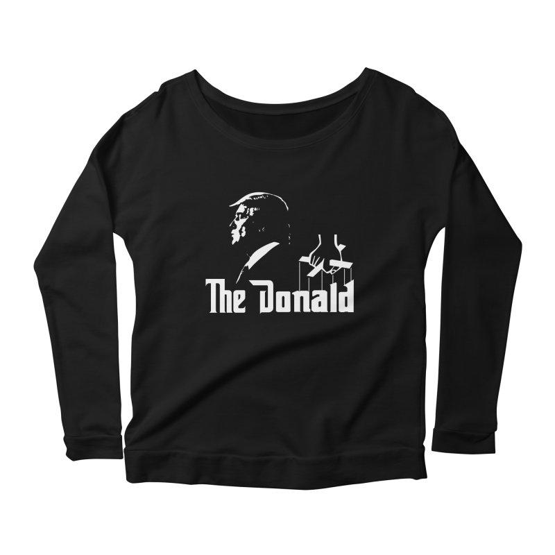 The Donald (Dark Colors) Women's Scoop Neck Longsleeve T-Shirt by kirbymack's Artist Shop