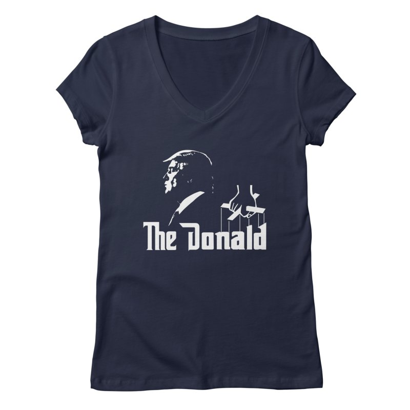 The Donald (Dark Colors) Women's Regular V-Neck by kirbymack's Artist Shop