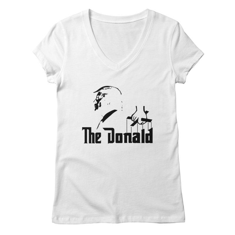 The Donald (Light Colors) Women's Regular V-Neck by kirbymack's Artist Shop