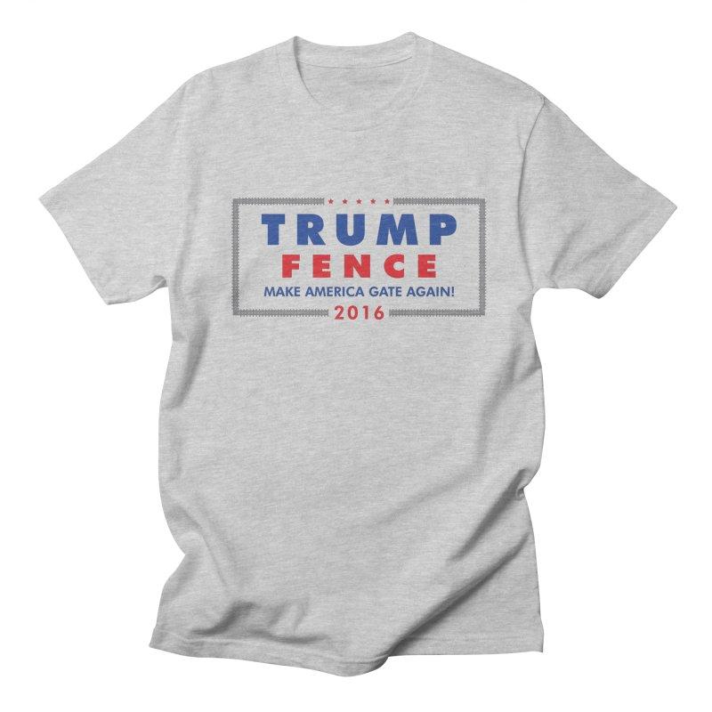 Trump Fence 2016 - Light Men's T-shirt by kirbymack's Artist Shop