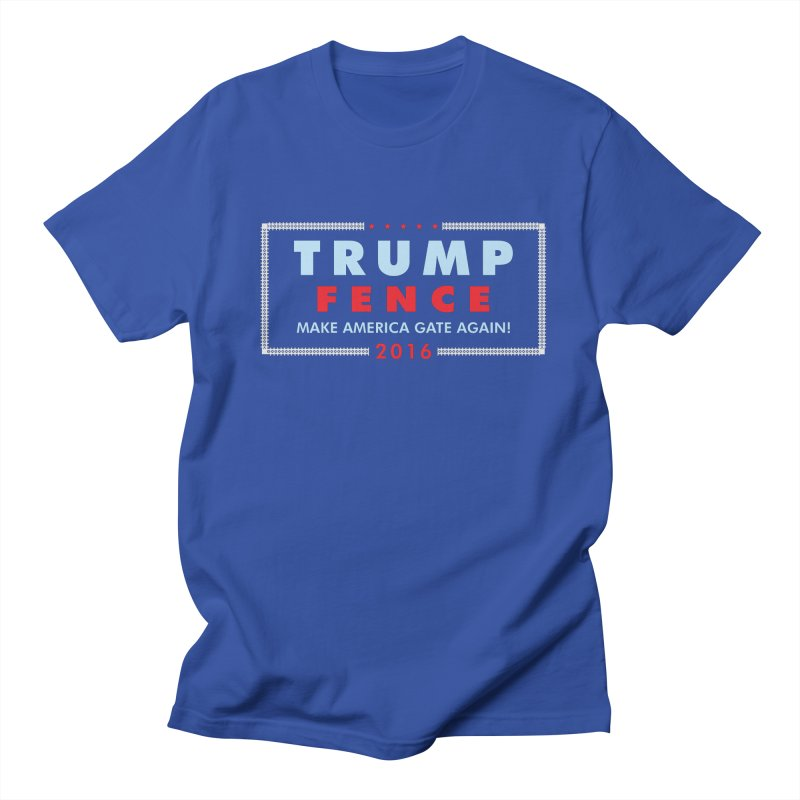 Trump Fence 2016 - Dark Men's T-Shirt by kirbymack's Artist Shop