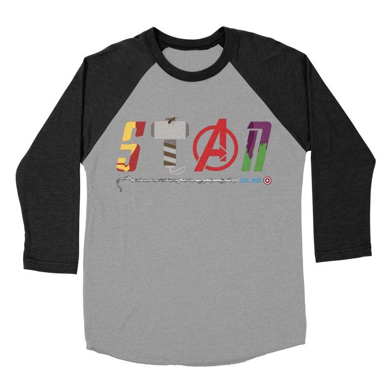 Stan Lee Men's Baseball Triblend Longsleeve T-Shirt by kirbymack's Artist Shop
