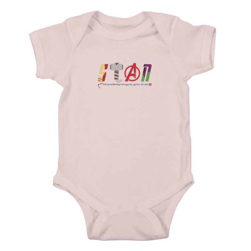 Stan Lee Kids Baby Bodysuit by kirbymack's Artist Shop