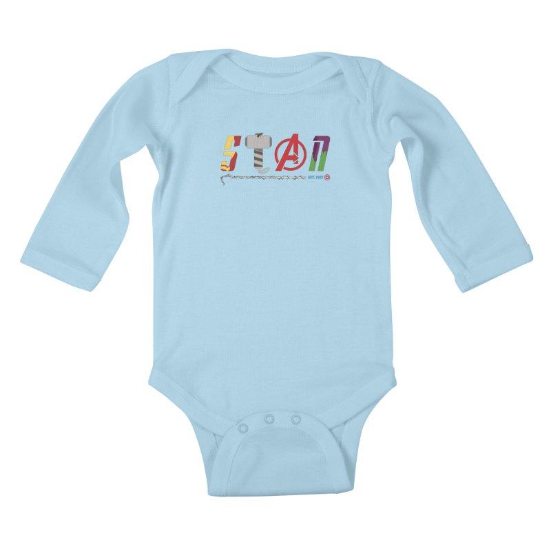 Stan Lee Kids Baby Longsleeve Bodysuit by kirbymack's Artist Shop