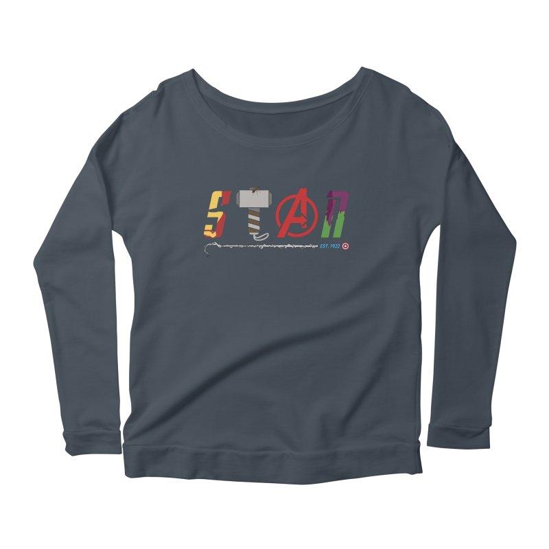 Stan Lee Women's Scoop Neck Longsleeve T-Shirt by kirbymack's Artist Shop
