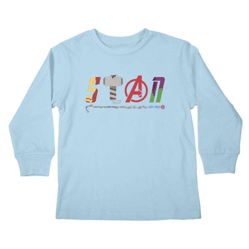 Stan Lee Kids Longsleeve T-Shirt by Kirby Mack's Artist Shop