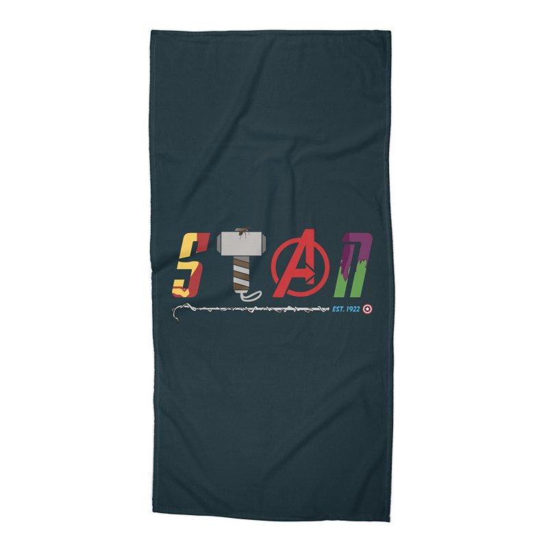 Stan Lee Accessories Beach Towel by Kirby Mack's Artist Shop