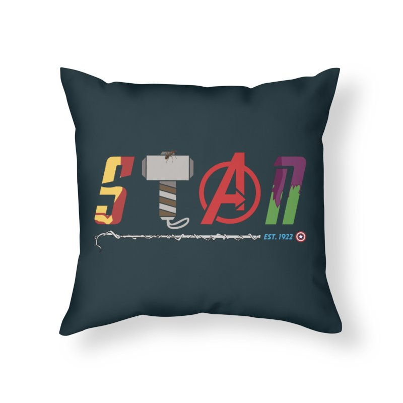 Stan Lee Home Throw Pillow by kirbymack's Artist Shop