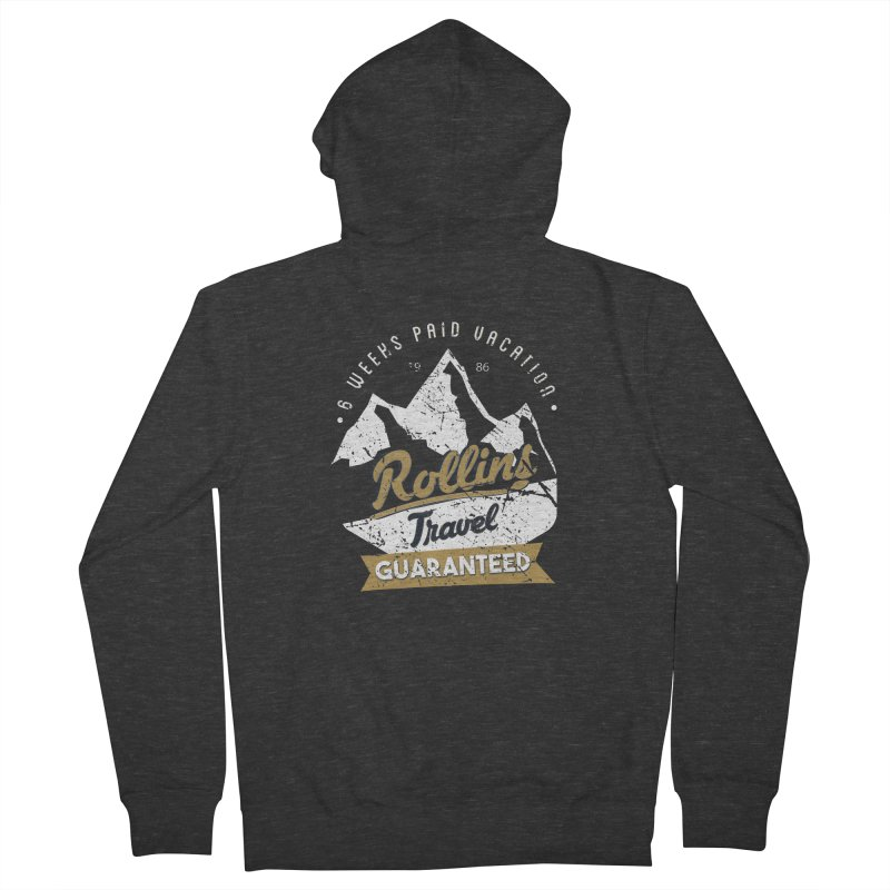 Rollins Travel Agency  Men's Zip-Up Hoody by kirbymack's Artist Shop