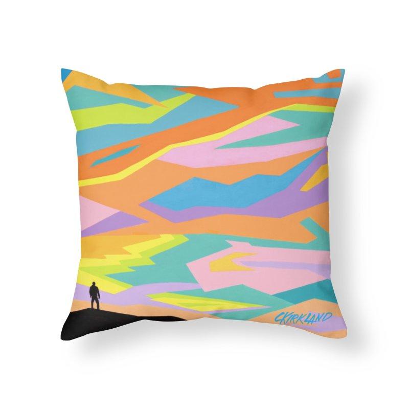 Refracted Sky Home Decor Throw Pillow by Kirkland Creative Art Shop