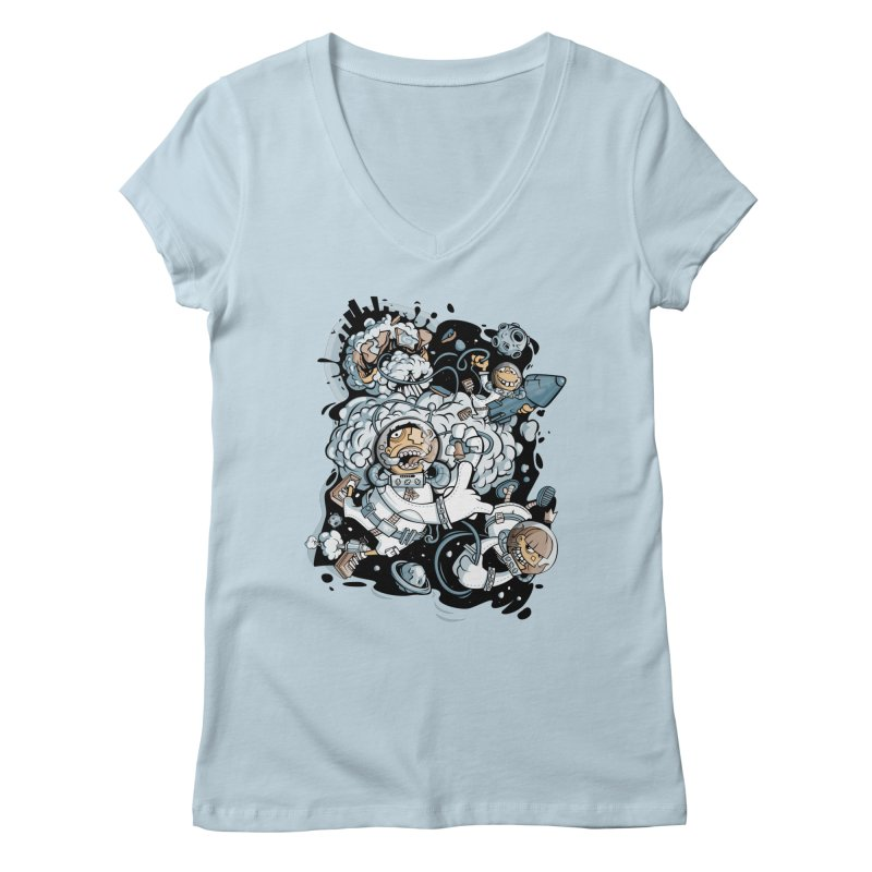 we had enough.. Women's V-Neck by kirpluk's Artist Shop