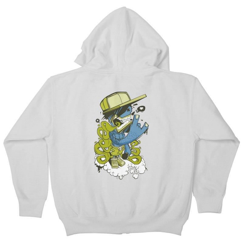 freestyler Kids Zip-Up Hoody by kirpluk's Artist Shop
