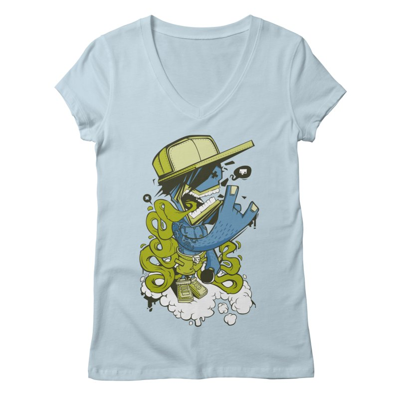 freestyler Women's V-Neck by kirpluk's Artist Shop