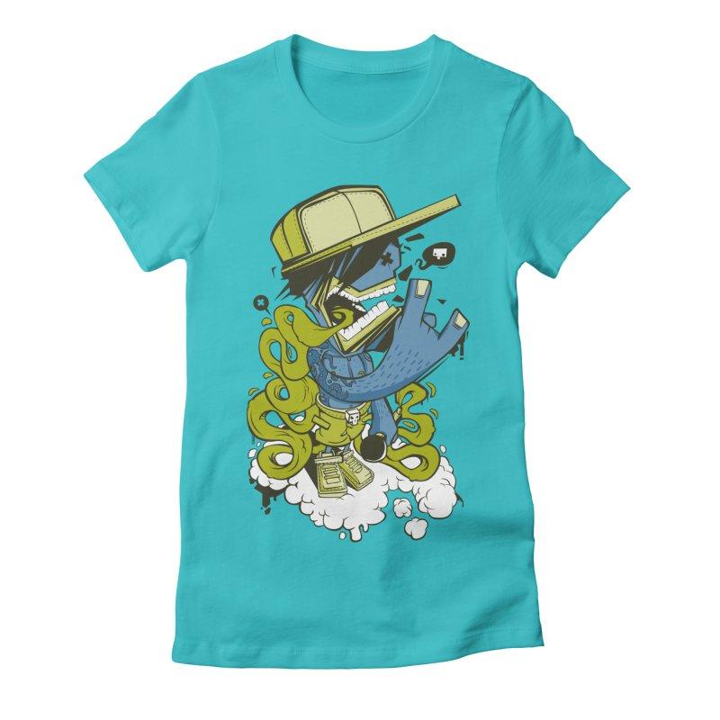 freestyler Women's Fitted T-Shirt by kirpluk's Artist Shop