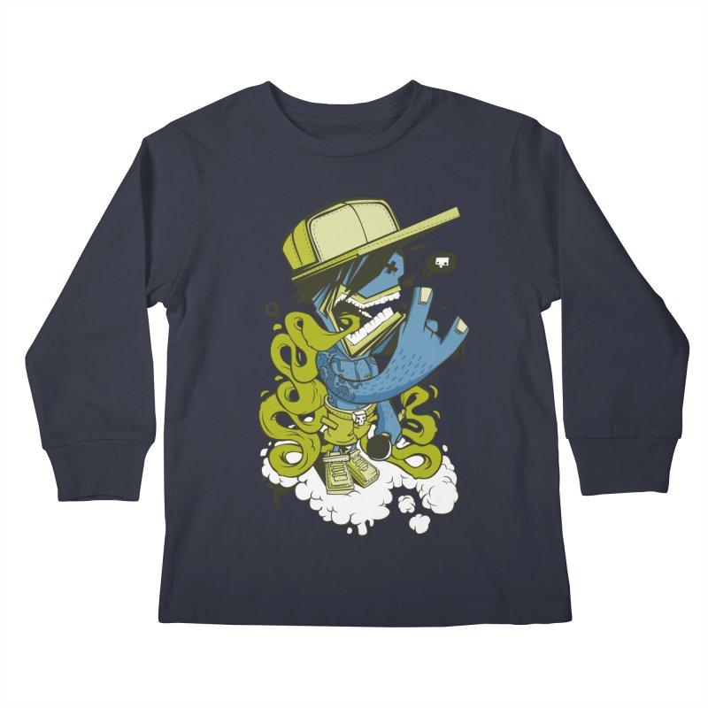 freestyler Kids Longsleeve T-Shirt by kirpluk's Artist Shop