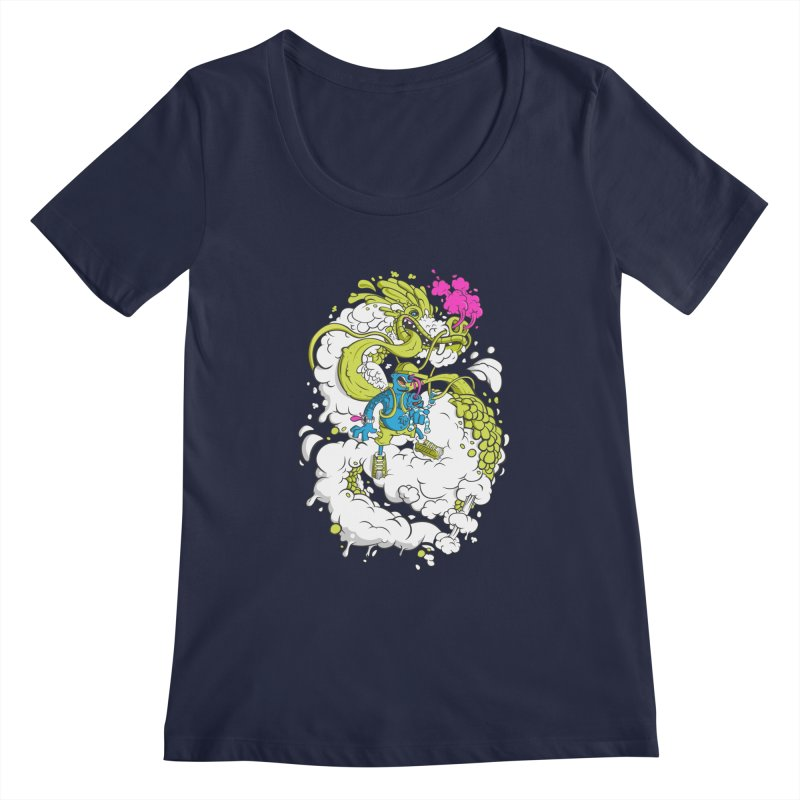 LearningToFly Women's Scoopneck by kirpluk's Artist Shop