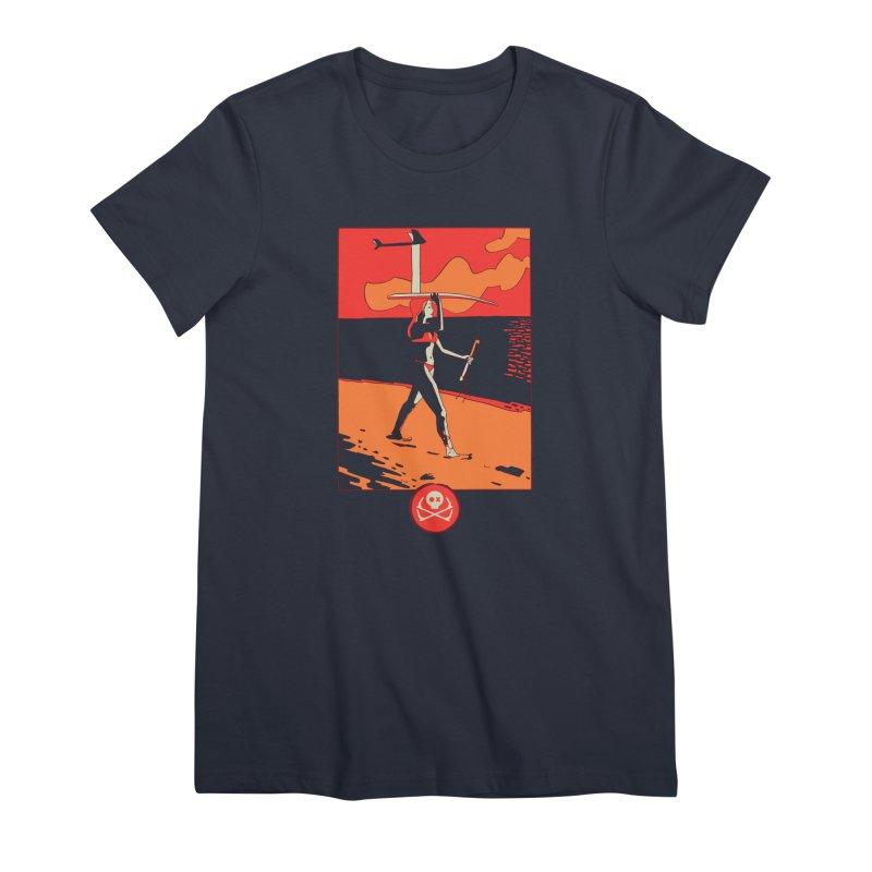 Foil Girl Women's T-Shirt by kitersoze