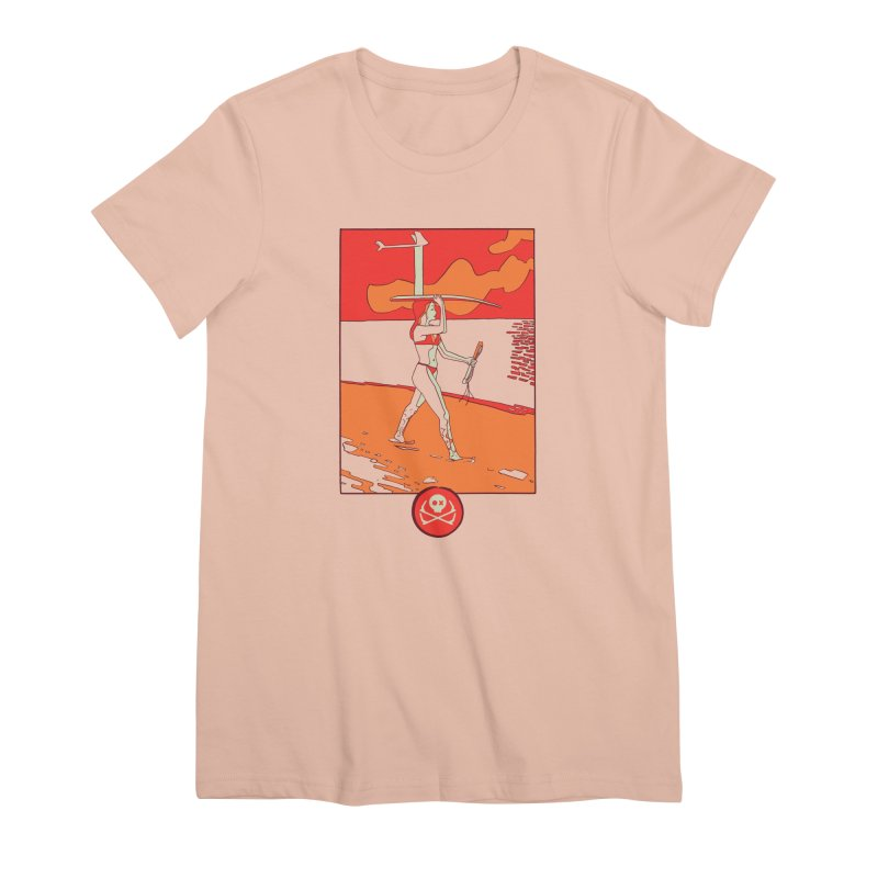 Foil Girl Women's Premium T-Shirt by kitersoze