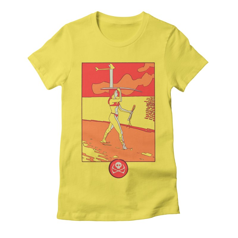 Foil Girl Women's Fitted T-Shirt by kitersoze
