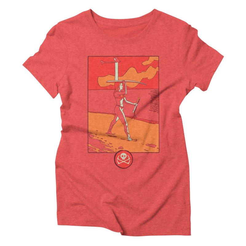 Foil Girl Women's Triblend T-Shirt by kitersoze