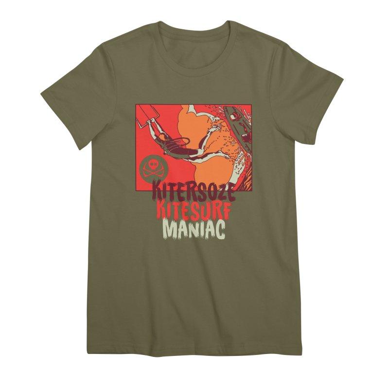 Kite Maniac Women's Premium T-Shirt by kitersoze