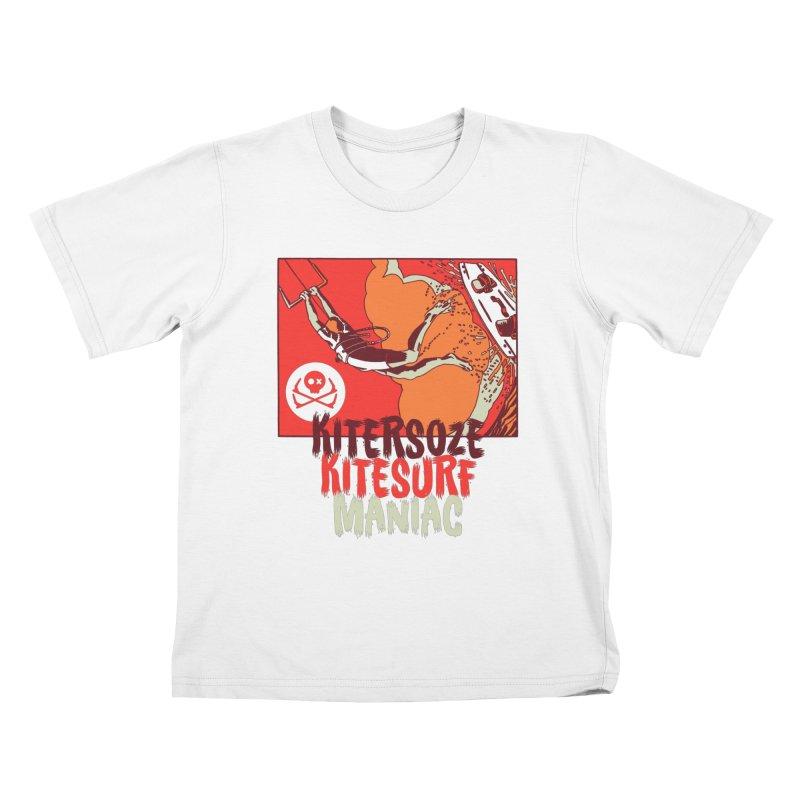 Kite Maniac Kids T-Shirt by kitersoze