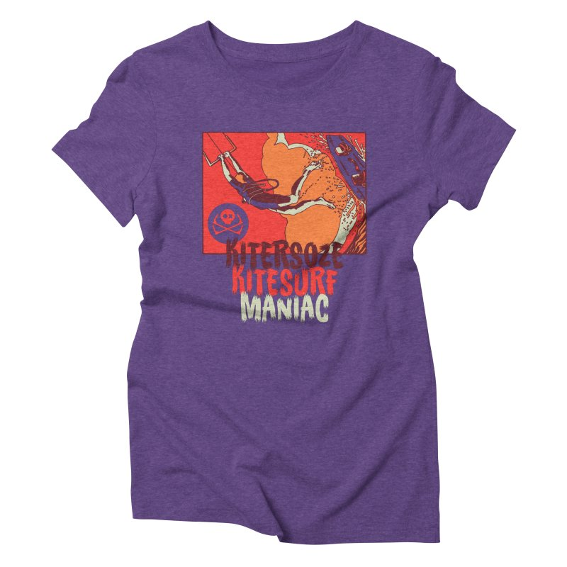 Kite Maniac Women's Triblend T-Shirt by kitersoze