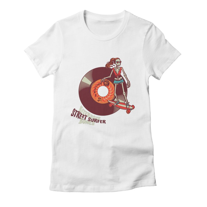 Street Surfer Women's Fitted T-Shirt by kitersoze