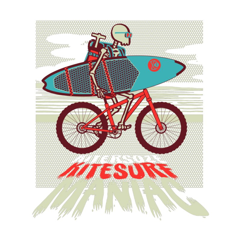 Kite by bike Men's T-Shirt by kitersoze