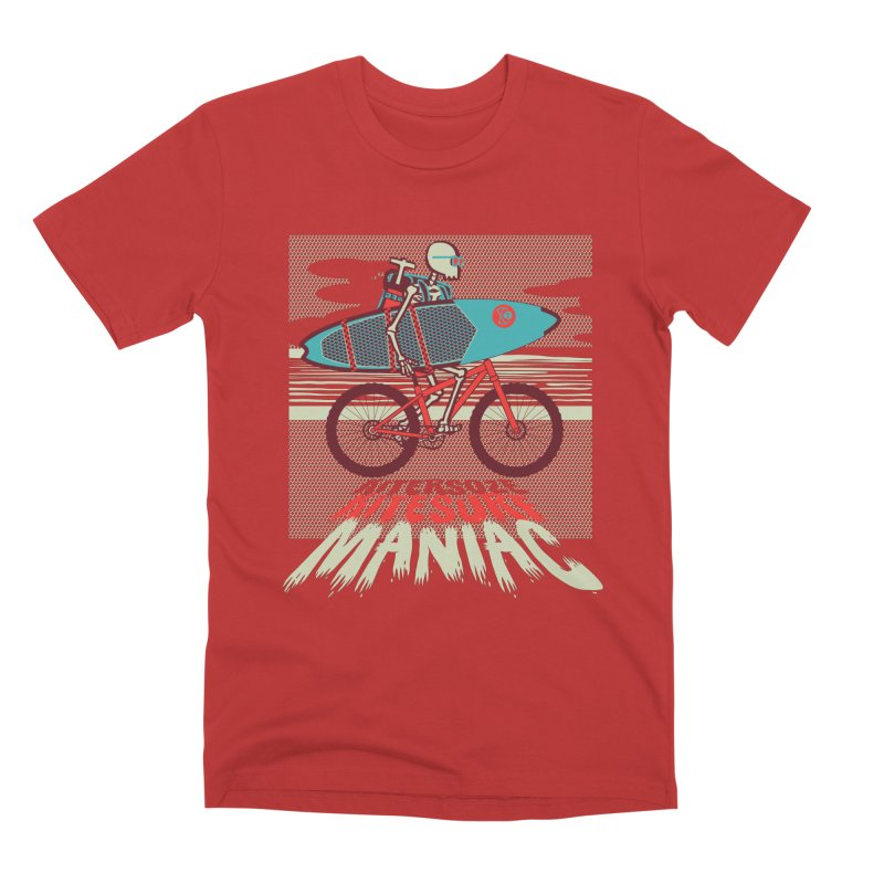 Kite by bike in Men's Premium T-Shirt Red by kitersoze