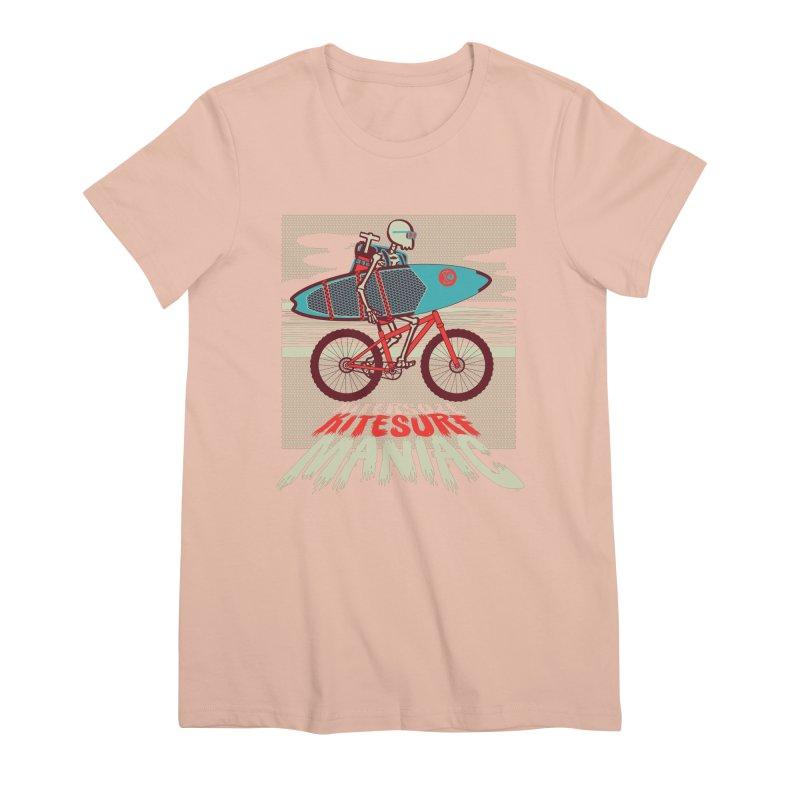 Kite by bike Women's Premium T-Shirt by kitersoze