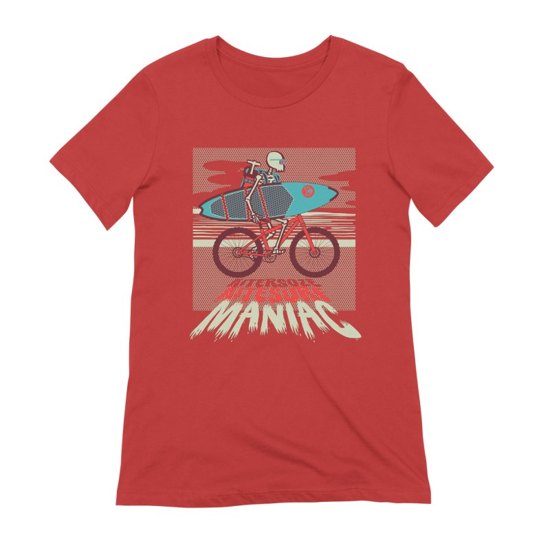 Kite by bike Women's Extra Soft T-Shirt by kitersoze