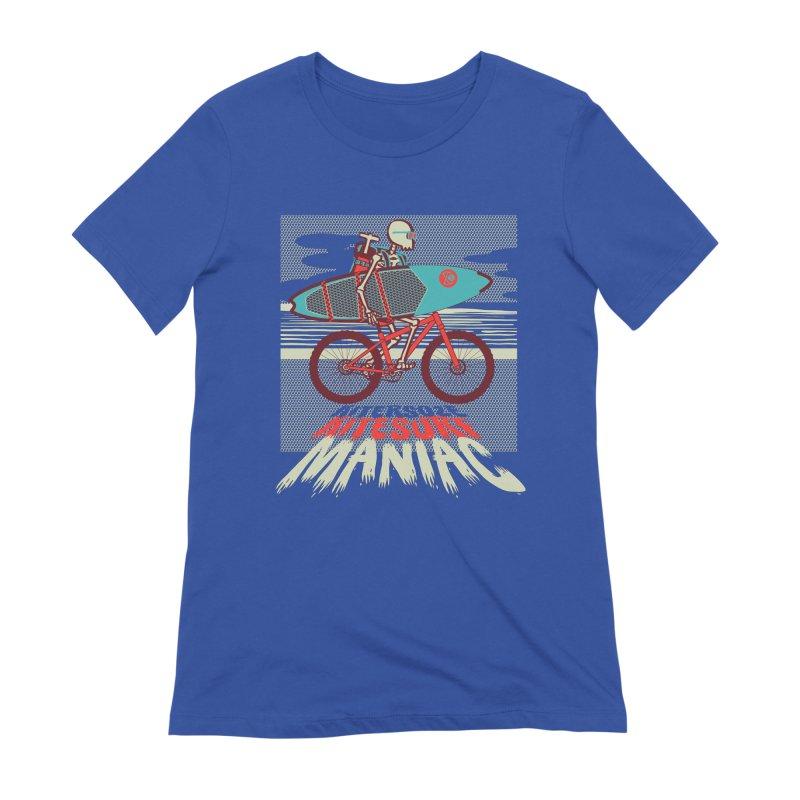 Kite by bike Women's Extra Soft T-Shirt by kitersoze