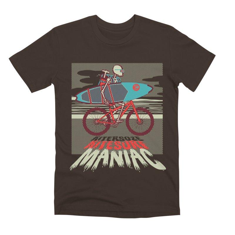Kite by bike Men's Premium T-Shirt by kitersoze