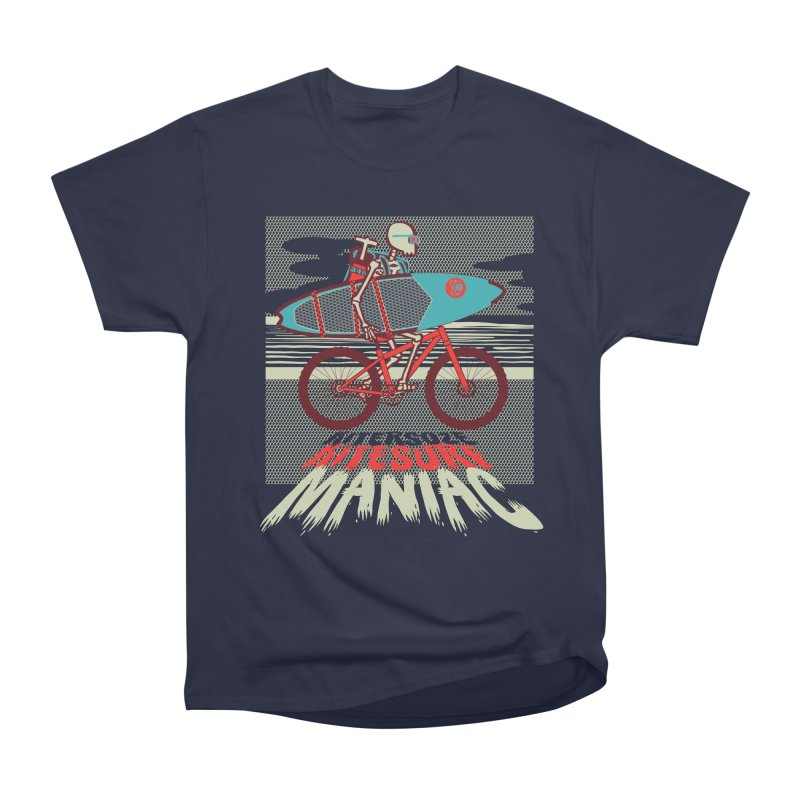 Kite by bike Women's Heavyweight Unisex T-Shirt by kitersoze