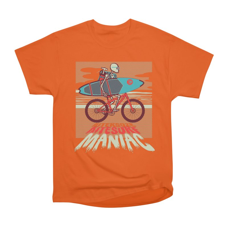 Kite by bike Women's Heavyweight Unisex T-Shirt by kitersoze