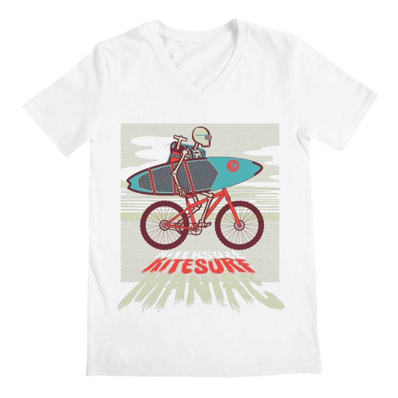Kite by bike Men's V-Neck by kitersoze