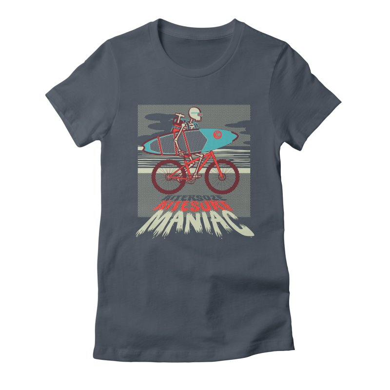 Kite by bike Women's T-Shirt by kitersoze