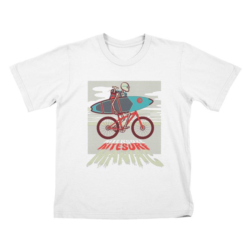 Kite by bike Kids T-Shirt by kitersoze