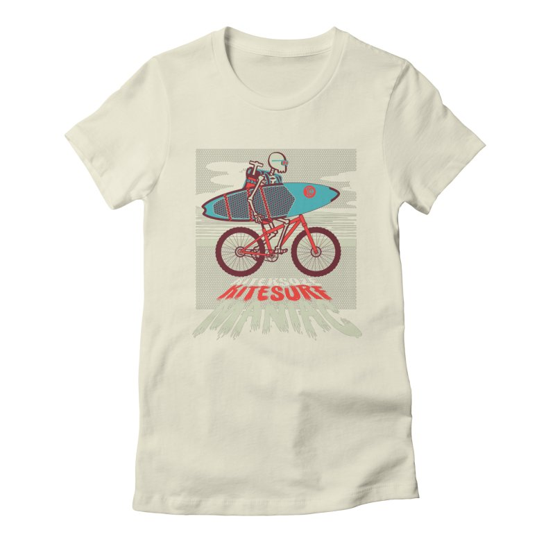 Kite by bike Women's Fitted T-Shirt by kitersoze
