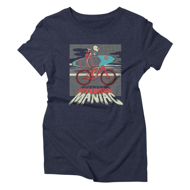 Kite by bike Women's Triblend T-Shirt by kitersoze